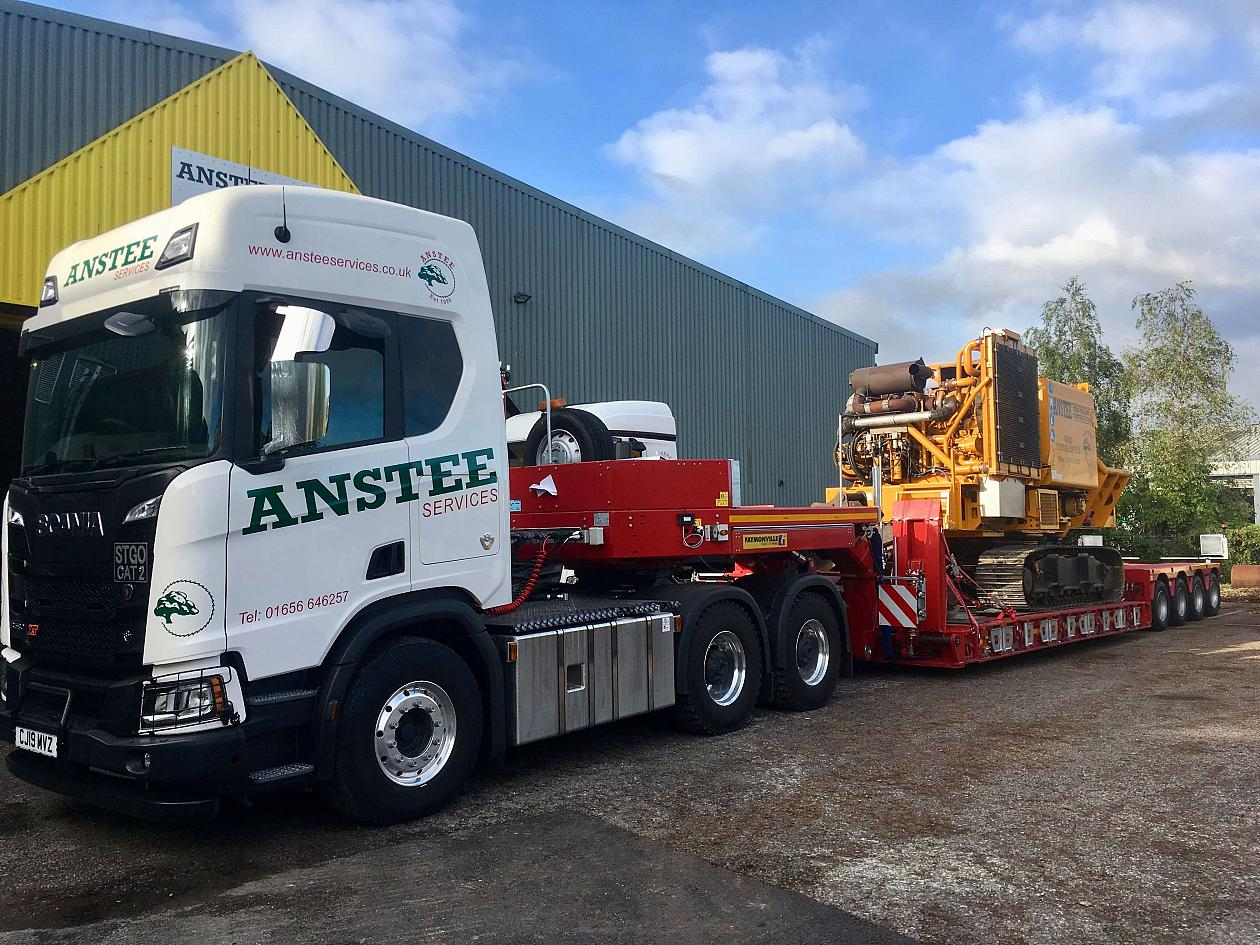 Above: Our state-of-the-art heavy haulage fleet operates from Bridgend and across the UK